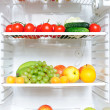 Fridge full of fruit and vegetables — Stock Photo #3274887