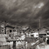 Industrial ruin — Stock Photo