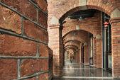 Brick hallway — Stock Photo