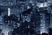 Night scene of buildings — Stock Photo