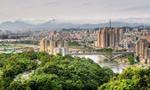 Taipei city skyline — Stock Photo