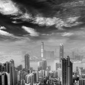 Cityscape of Hong Kong skyscrapers — Stock Photo