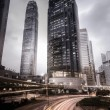 Stadt Skyline in Hong kong — Stockfoto