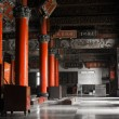 Stock Photo: Chinese temple interior