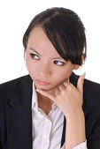 Worried business woman — Stock Photo