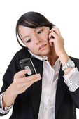 Busy business woman — Stock Photo