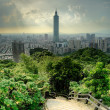 Dramatic cityscape of Taipei — Stock Photo
