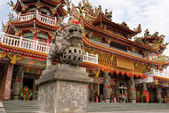 Color building of classic religious temple of China — Stock Photo