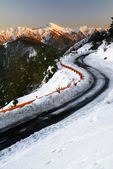 Winter road with snow — Stock Photo