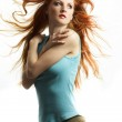 The young sexual woman with red hair — Stock Photo #3266508