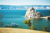 Mountain Burhan lake Baikal — Stock Photo