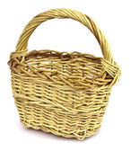 Basket in wattled from willow rods — Stock Photo