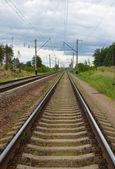 Demiryolu banliyö ileti — Stok fotoğraf