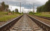 Railway of suburban message — Photo