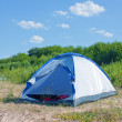 Tent of blue color — Stock Photo