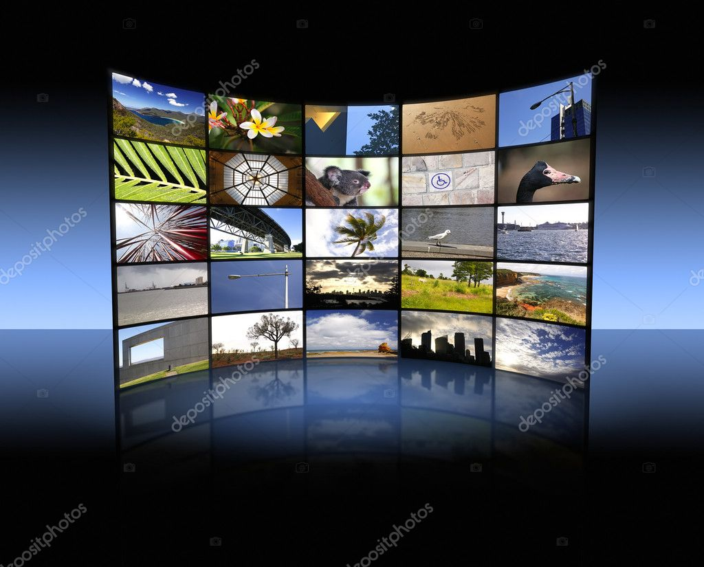 An illustration of a big TV panel — Stock Photo #2770329