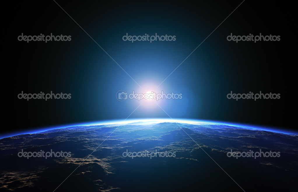 An illustration of a nice deep space planet background — Stock Photo #2963142