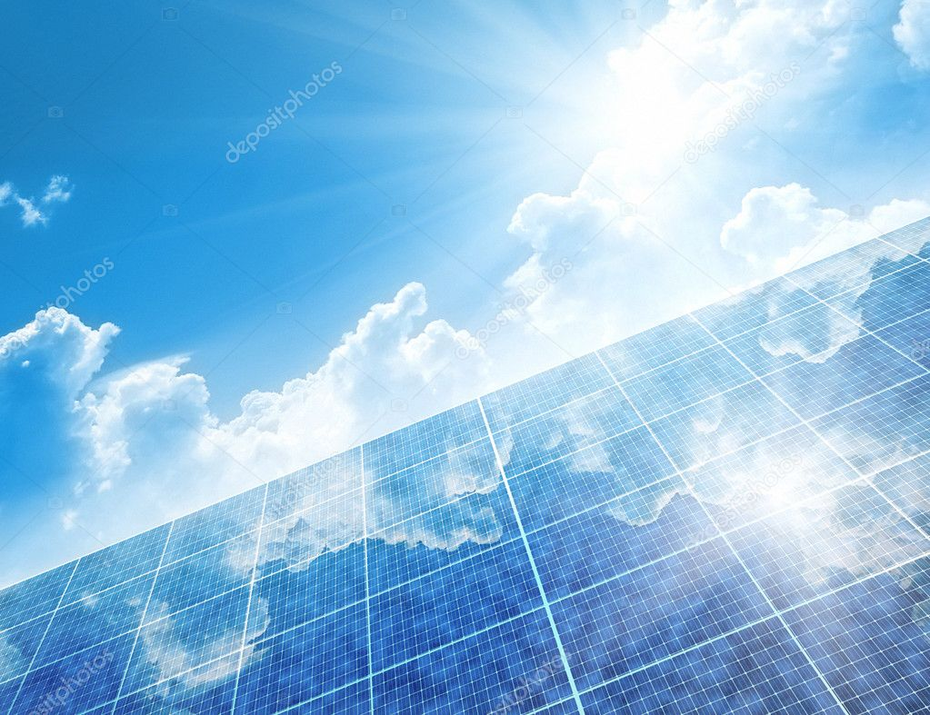 A photography of a solar panels background — Stock Photo #2979765