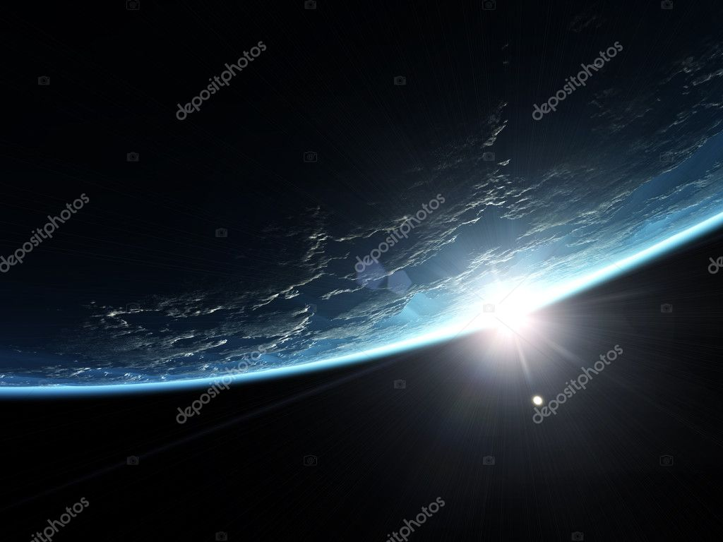 An illustration of a nice deep space planet background — Stock Photo #3013150