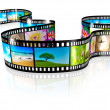 Film strip - Foto Stock