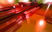 Rood glas — Stockfoto