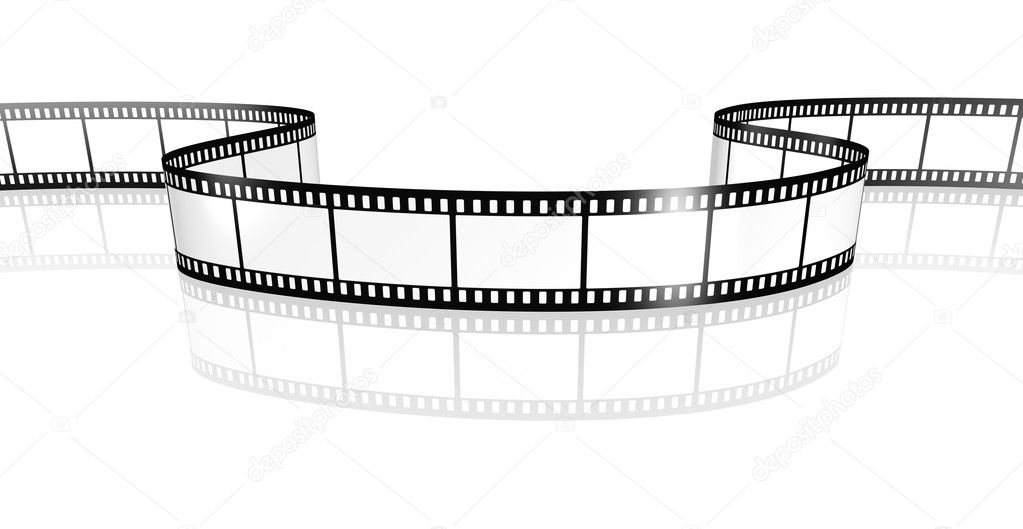 An image of a film strip white — Stock Photo #3401417