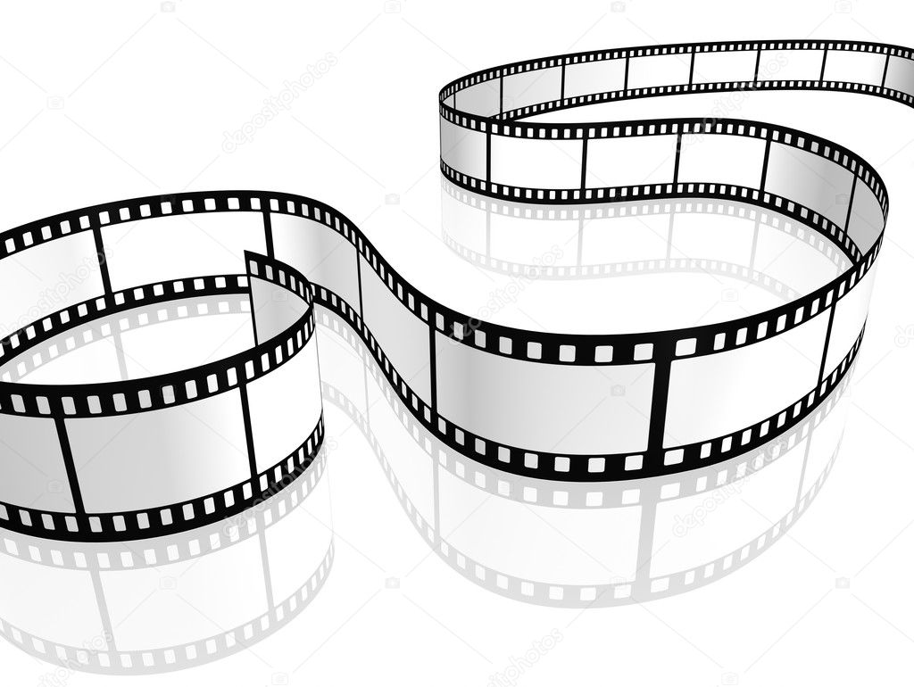 An image of a film strip white — Stock Photo #3401425