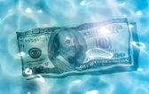 Dollar water — Stock Photo