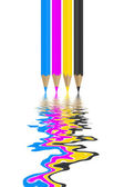 Cmyk pencils — Stock Photo