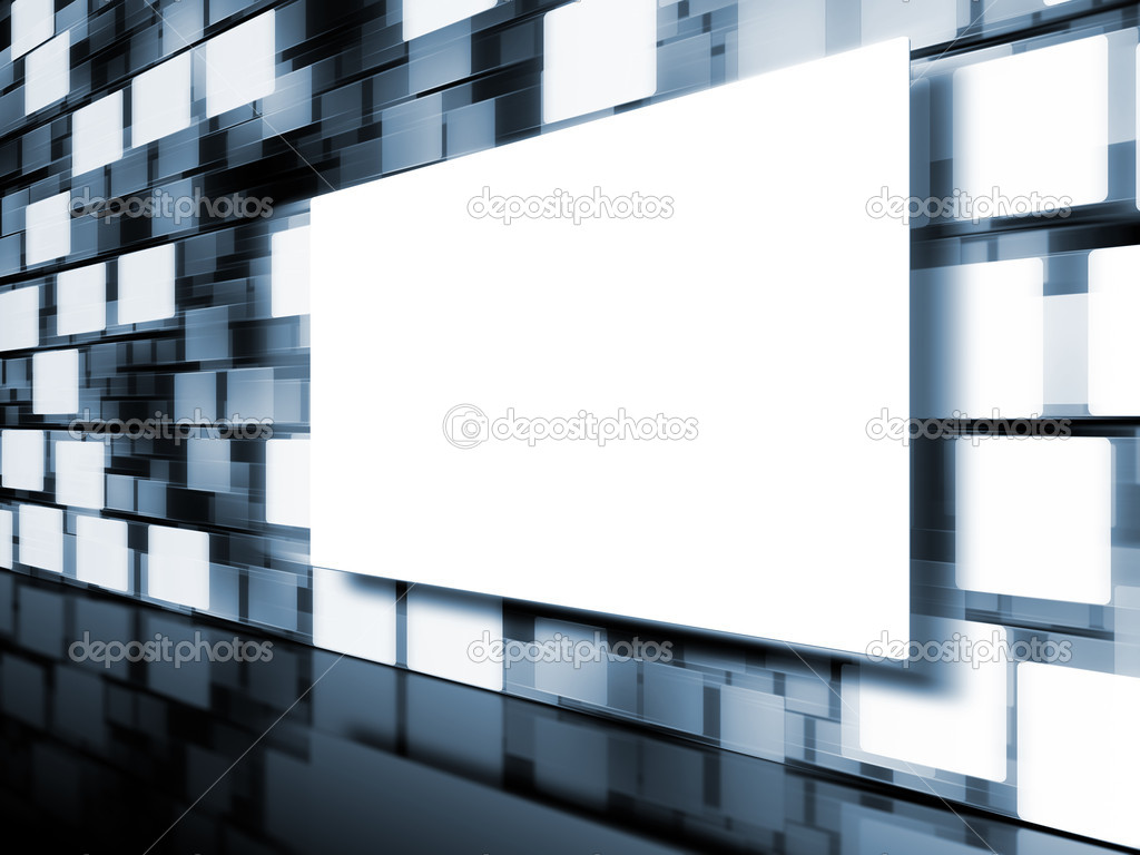 An image of a moving picture wall — Stock Photo #3662737