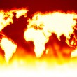 Earth map fire — Stock Photo