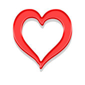 Red heart — Foto de Stock