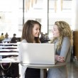 Girls with a laptop — Stock Photo #2712249