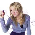 Girl making a mindmap — Stock Photo #2712313