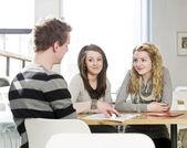 Students talking — Stock Photo