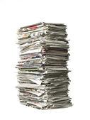 Pila de periódicos — Foto de Stock