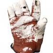Stock Photo: Dirty protection glove