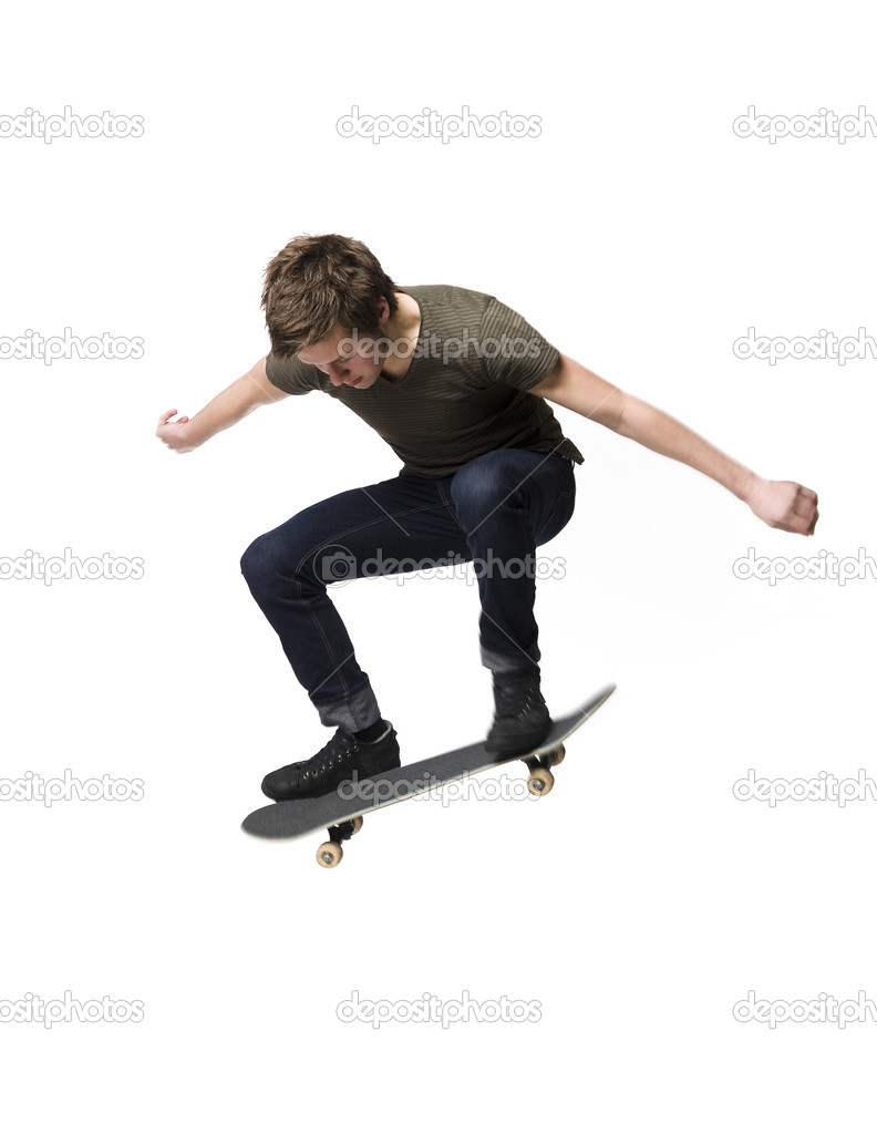Man on skateboard isolated on white — Stock Photo #2914626