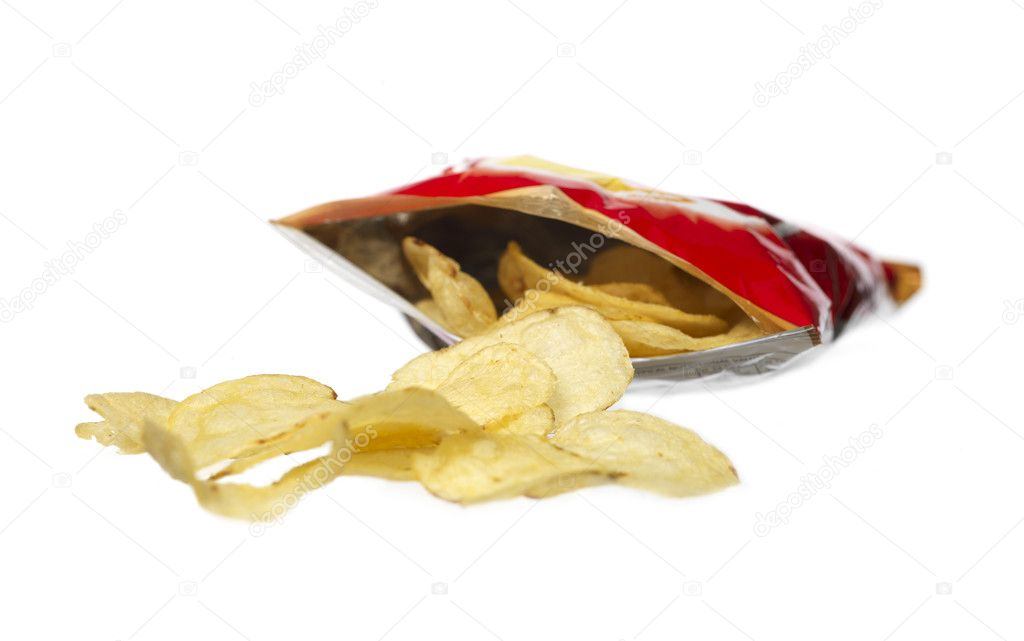 Bag of potato crisps  Stock Photo #2914842