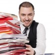Man behind a office desk — Stock Photo #2959092