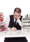 Man op het bureau — Stockfoto