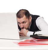 Man at the computer — Stock Photo