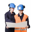 Two female buildingconstructors — Stock Photo #2961643