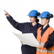 Two female buildingconstructors — Stock Photo #2961650