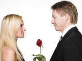 Courting couple — Stock Photo