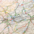 Map of Bratislava - Stock Photo