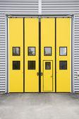 Garage doorway — Stock Photo