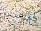 Map of Wienna in Austria — Stock Photo
