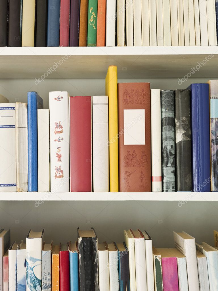 Bookshelf with several books — Stock Photo #2970849