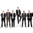 Businessmen in a row — Stock Photo
